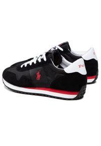 Polo Ralph Lauren - Sneakersy POLO RALPH LAUREN - Train 85 809821686002 Blk/Red. Okazja: na co dzień, na spacer. Kolor: czarny. Materiał: zamsz, materiał, skóra. Szerokość cholewki: normalna. Styl: casual, sportowy