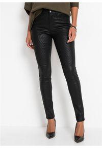 Czarne jeansy bonprix w paski