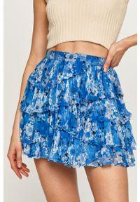 Niebieska spódnica The Kooples w kwiaty, na co dzień, casualowa