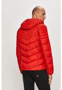 Czerwona kurtka Guess casualowa, z kapturem, na co dzień