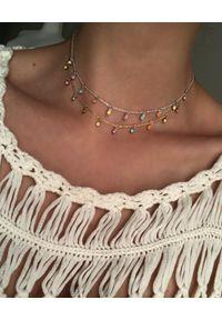 SIN BY MANNEI - Srebrny Naszyjnik Candy. Materiał: srebrne. Kolor: srebrny. Wzór: kolorowy. Kamień szlachetny: turkus