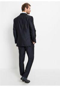 Garnitur 4-częściowy (marynarka, spodnie, kamizelka i krawat) bonprix ciemnoniebieski. Kolor: niebieski. Styl: elegancki #2
