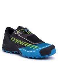 Dynafit - Buty DYNAFIT - Feline Sl 64053 Asphalt/Methyl Blue 0977. Kolor: czarny, wielokolorowy, niebieski. Materiał: materiał. Szerokość cholewki: normalna. Sport: fitness