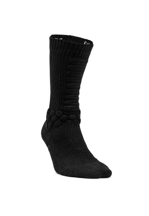OXELO - Skarpetki Półdługie Na Deskorolkę Socks 500. Kolor: czarny. Materiał: elastan, poliamid, bawełna