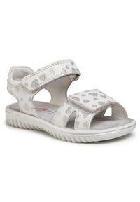 Białe sandały Superfit na lato, z aplikacjami