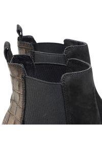 Czarne botki Lasocki z cholewką, na średnim obcasie, na obcasie