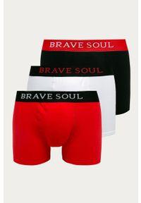 Czerwone majtki Brave Soul z nadrukiem