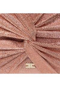 Różowa kopertówka Elisabetta Franchi wizytowa