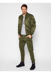 Aeronautica Militare T-Shirt 211TS1856J513 Szary Regular Fit. Kolor: szary