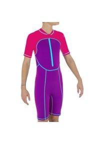 NABAIJI - Krótki Kombinezon Pływacki Dla Dzieci. Kolor: różowy, fioletowy, wielokolorowy. Materiał: poliester, materiał