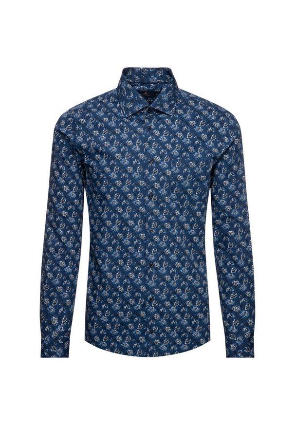 Niebieska koszula casual Pierre Cardin