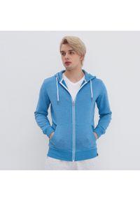 House - Rozpinana bluza z kapturem - Niebieski. Typ kołnierza: kaptur. Kolor: niebieski