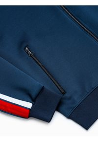 Niebieska bluza Ombre Clothing retro, bez kaptura
