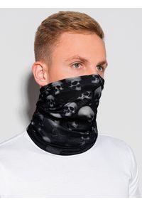 Ombre Clothing - Komin męski A401 - czarny - uniwersalny. Kolor: czarny. Materiał: poliester