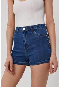 Haily's - Szorty jeansowe. Kolor: niebieski. Materiał: jeans. Wzór: gładki