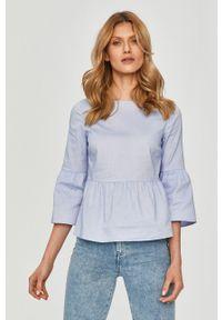 Niebieska bluzka Pennyblack gładkie, na co dzień, casualowa