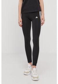 Czarne legginsy Adidas gładkie
