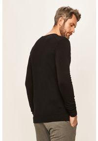 Czarny sweter Tailored & Originals casualowy, na co dzień, z okrągłym kołnierzem