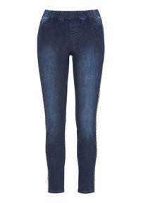 Niebieskie jeansy Cellbes z motywem zwierzęcym, do kostek