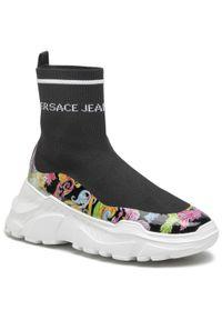 Versace Jeans Couture - Sneakersy VERSACE JEANS COUTURE - E0VWASC5 71933 M09. Okazja: na co dzień. Kolor: czarny. Materiał: materiał. Szerokość cholewki: normalna. Sezon: lato. Styl: casual