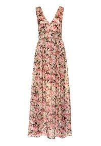 Pinko Sukienka letnia Hasko 20201 PBK2 1B14FZ 8062 Kolorowy Regular Fit. Wzór: kolorowy. Sezon: lato
