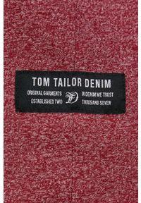 Tom Tailor - T-shirt. Okazja: na co dzień. Kolor: czerwony. Materiał: dzianina. Wzór: gładki, aplikacja. Styl: casual