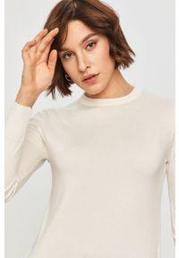 Biały sweter Answear Lab długi, z długim rękawem, wakacyjny