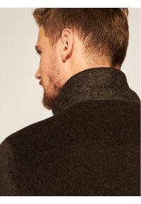 Oscar Jacobson Płaszcz wełniany Storik 7126 9049 Brązowy Regular Fit. Kolor: brązowy. Materiał: wełna