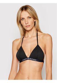 TOMMY HILFIGER - Tommy Hilfiger Góra od bikini Triangle Fixed UW0UW02708 Czarny. Kolor: czarny