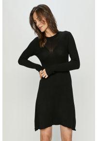 Czarna sukienka Haily's z długim rękawem, casualowa, mini