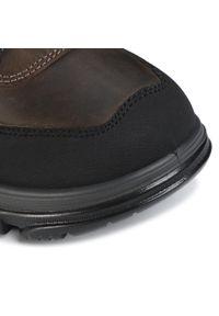 Brązowe buty zimowe Imac z cholewką, eleganckie