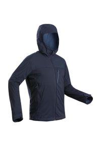 FORCLAZ - Softshell trekkingowy męski Forclaz TREK 900 WINDWARM. Kolor: niebieski. Materiał: softshell