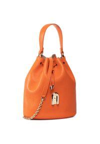 Pomarańczowa torebka worek Furla klasyczna