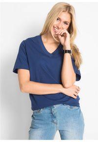 Długi shirt z dekoltem w szpic (5 sztuk), krótki rękaw bonprix jasna limonka + zielony szałwiowy + kobaltowy + jasnoszary melanż + czarny. Kolor: żółty. Długość rękawa: krótki rękaw. Długość: krótkie. Wzór: melanż #6