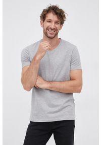 Hugo - T-shirt (2-pack). Kolor: szary. Materiał: dzianina. Wzór: gładki