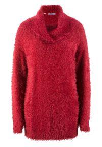 Czerwony sweter bonprix długi