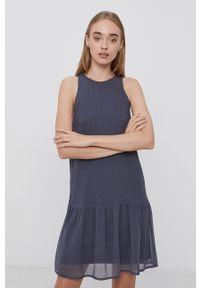 Vero Moda - Sukienka. Kolor: szary. Materiał: tkanina, poliester
