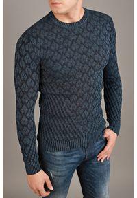 Niebieski sweter IVET na jesień