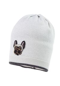 Srebrna czapka Jamiks z aplikacjami