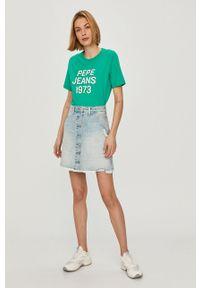 Bluzka Pepe Jeans na co dzień, casualowa, z nadrukiem