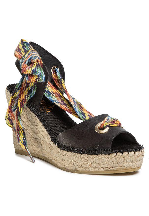 Czarne sandały Vidorreta