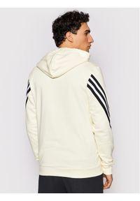 Adidas - adidas Bluza 3S Tape OH GM3838 Żółty Regular Fit. Kolor: żółty