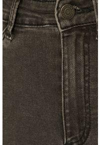 Szare jeansy Noisy may z podwyższonym stanem