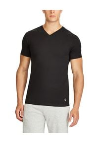 Ralph Lauren - RALPH LAUREN - T-Shirt 2-Pack. Okazja: na co dzień. Typ kołnierza: polo. Kolor: czarny. Materiał: bawełna, prążkowany, dresówka. Wzór: haft. Styl: casual, klasyczny