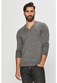 Szary sweter Polo Ralph Lauren długi, polo