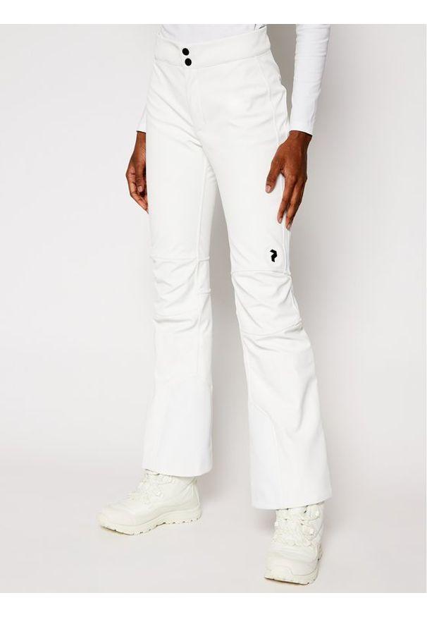 Białe spodnie sportowe Peak Performance narciarskie