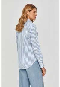 Niebieska koszula Polo Ralph Lauren długa, z długim rękawem, na co dzień