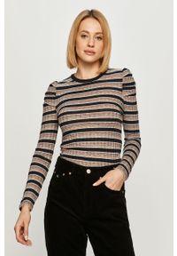 Wielokolorowy sweter Pepe Jeans na co dzień, z długim rękawem, długi