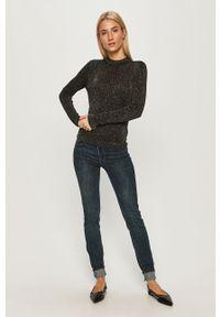 Czarny sweter Pepe Jeans z długim rękawem, długi