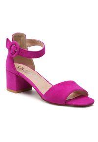Fioletowe sandały Oleksy